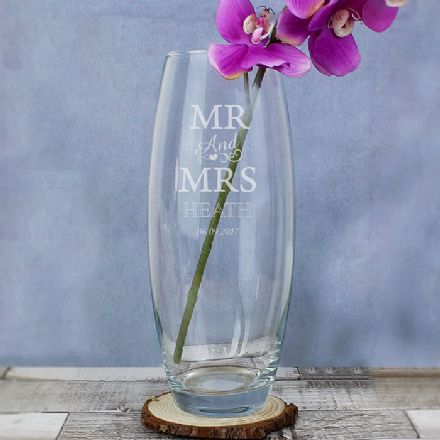 Personalised Vase -  Mr & Mrs